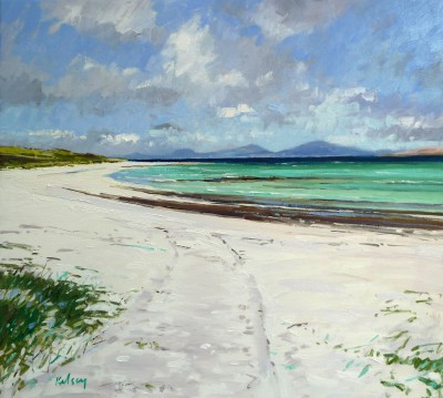 Scottish Artist Robert KELSEY - White Sands on Barra