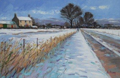 Scottish Artist Robert KELSEY - Winter Afternoon, Perthshire