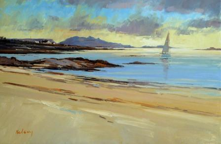 Scottish Artist Robert KELSEY - Setting Sun, Arisaig