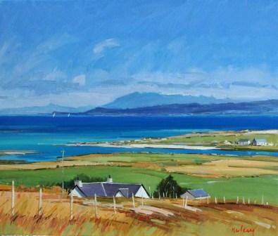 Scottish Artist Robert KELSEY - The Hills of Skye