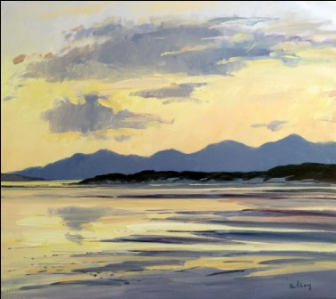 Scottish Artist Robert KELSEY - Evening Light, Barra