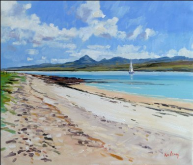 Scottish Artist Robert KELSEY - Paps of Jura from Islay