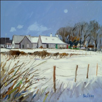 Scottish Artist Robert KELSEY - Ayrshire Landscape, Winter III
