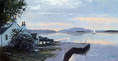 Scottish Artist Robert KELSEY - Crinan Twilight