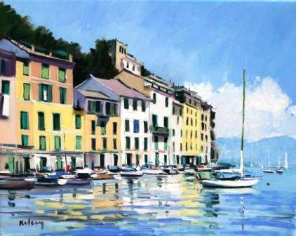 Scottish Artist Robert KELSEY - Portofino