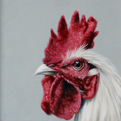 Chicken Study painting by artist Robina YASMIN