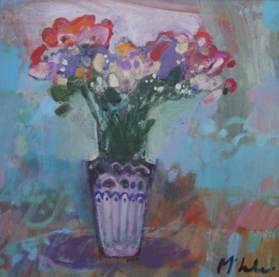Scottish Artist Rory McLAUCHLAN  - Wild Poppies and Sweet William
