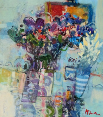 Scottish Artist Rory McLAUCHLAN  - Kitchen Flowers