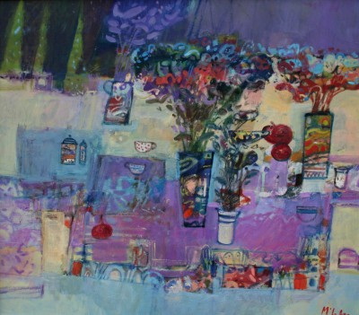 Scottish Artist Rory McLAUCHLAN  - Still Life with Wild Flowers