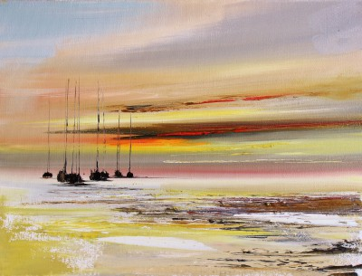 Scottish Artist Rosanne BARR - Reflections from the Shore