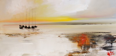 Scottish Artist Rosanne BARR - A Little Gathering of Yachts