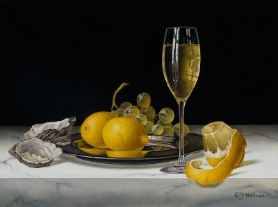 White Wine with Lemons and Oysters