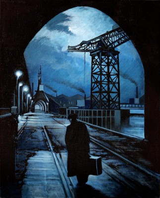 Scottish Artist Ryan MUTTER - Late Night at the Dockyards
