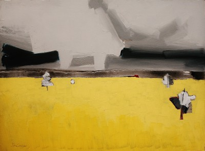 Scottish Artist Sam CARTMAN - Ae Fields 1