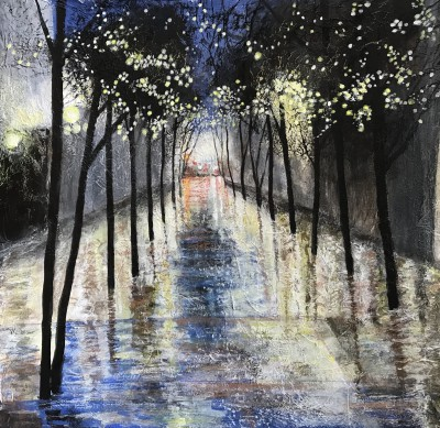 Scottish Artist Sandra MOFFAT - Light Shower in the City