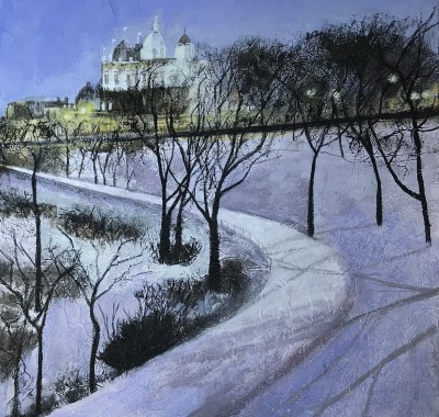 Scottish Artist Sandra MOFFAT - Princes Street Gardens, Edinburgh
