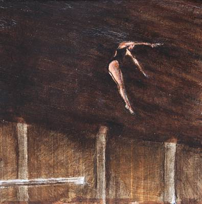 Scottish Artist Sarah KEER-KEER - Female Diver, Pike Dive