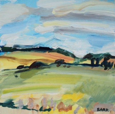 Scottish Artist Shona BARR - Aberdeenshire Fields (study)