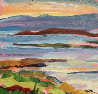 Argyll Evening Study painting by artist Shona BARR