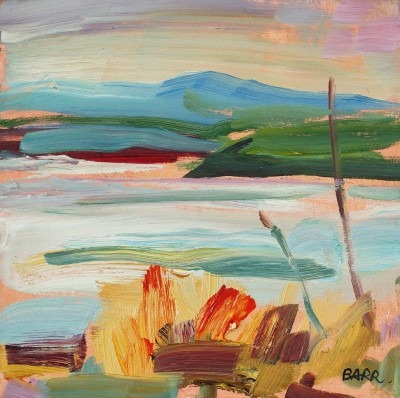 Peaceful Loch Study painting by artist Shona BARR