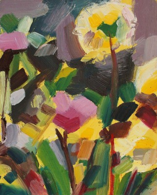 Scottish Artist Shona BARR - Allotment Dahlias Study