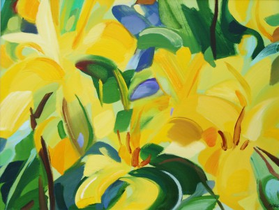 Scottish Artist Shona BARR - Yellow Lilies