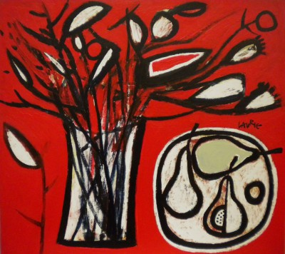 Winter Twigs and Fruit painting by artist Simon LAURIE  RGI