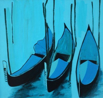 Scottish Artist Simon LAURIE  RGI - Gondolas
