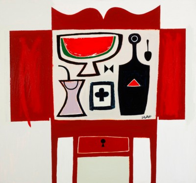 Scottish Artist Simon LAURIE  RGI - Red Table