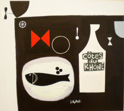 Scottish Artist Simon LAURIE  RGI - Seafood Lunch