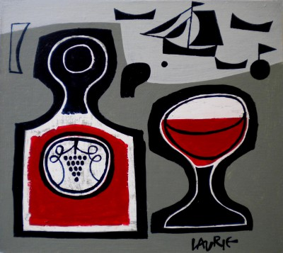 Scottish Artist Simon LAURIE  RGI - Vino