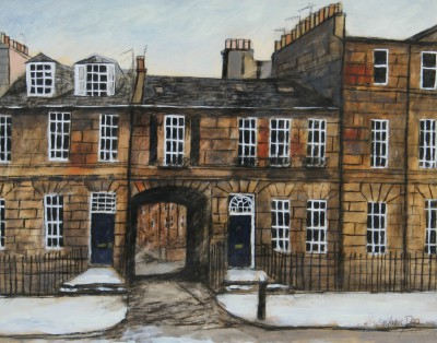 Scottish Artist Stephanie DEES - Commission: Stafford Street, Edinburgh