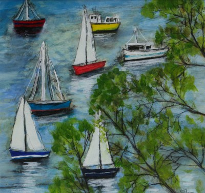 Scottish Artist Stephanie DEES - Glimpse Salcombe