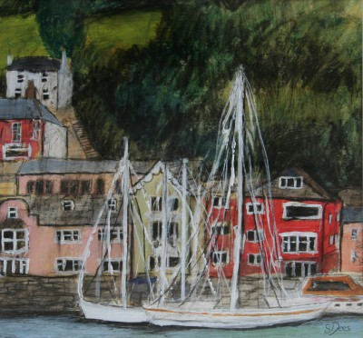 Scottish Artist Stephanie DEES - Dartmouth Day
