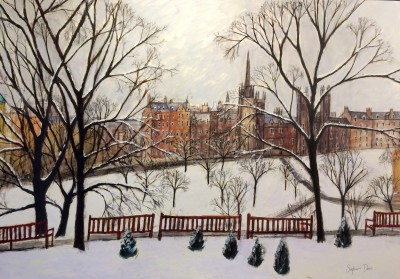 Scottish Artist Stephanie DEES - Winter in Edinburgh