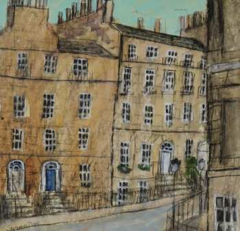 Scottish Artist Stephanie DEES - New Town, Spring Day