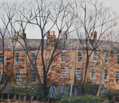 Scottish Artist Stephanie DEES - Garden in the City
