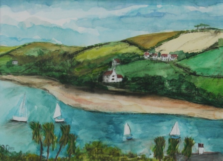 Scottish Artist Stephanie DEES - Summer Study, Salcombe