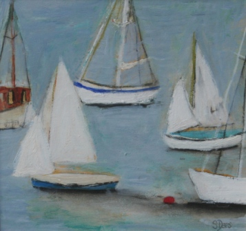 Scottish Artist Stephanie DEES - Yachts in the Bay