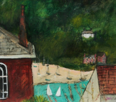 Scottish Artist Stephanie DEES - Salcombe Study