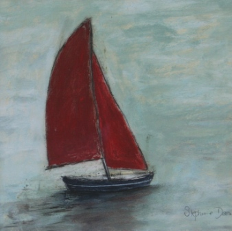Scottish Artist Stephanie DEES - Red Sail