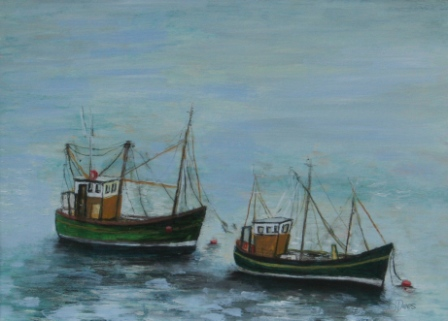 Scottish Artist Stephanie DEES - Fishing Boats at Rest
