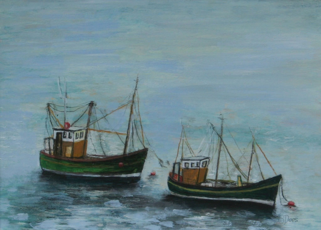 Stephanie DEES - Fishing Boats at Rest