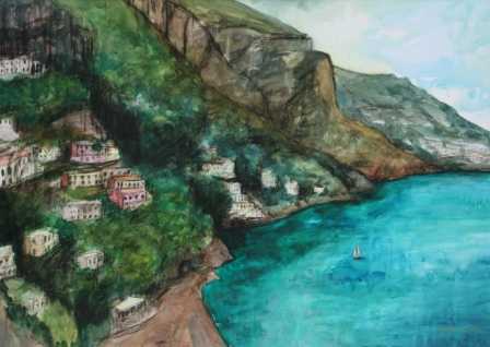 Scottish Artist Stephanie DEES - Amalfi Coastline