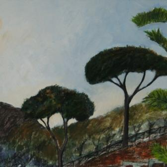 Scottish Artist Stephanie DEES - Trees Sorrento