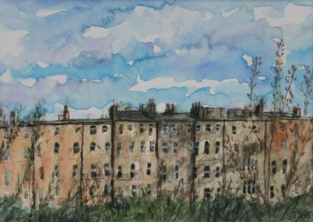 'Edinburgh Skyline' painting by artist Stephanie DEES