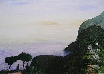 Scottish Artist Stephanie DEES - Sunset Over Capri