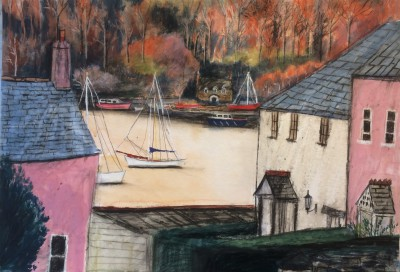 Scottish Artist Stephanie DEES - Calm Water at Dittisham