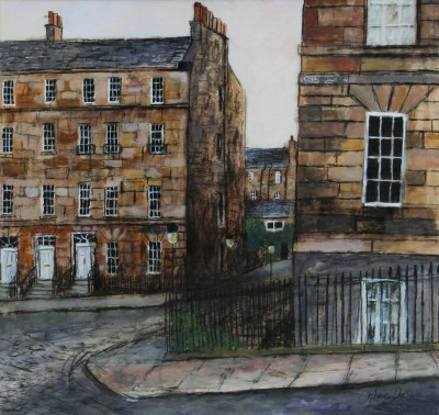 Scottish Artist Stephanie DEES - Dusk, Nelson Street