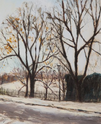Scottish Artist Stephanie DEES - Edinburgh Winter
